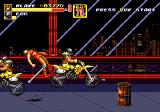 Streets of Rage 2 Genesis Stage 2: Blaze is ran over by a biker gang