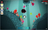 Scarygirl Browser Underwater, collecting squids while avoiding enemies.