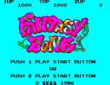 Fantasy Zone SEGA Master System Title screen