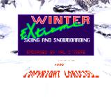 Tommy Moe's Winter Extreme: Skiing & Snowboarding SNES Title screen
