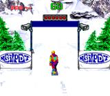 Tommy Moe's Winter Extreme: Skiing & Snowboarding SNES At the starting gate