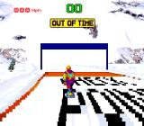 Tommy Moe's Winter Extreme: Skiing & Snowboarding SNES So close to the checkpoint