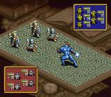 Ogre Battle SNES Using a tarot card in battle.