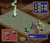 Ogre Battle SNES A magic user attacks.