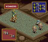 Ogre Battle SNES The enemy wins a battle.