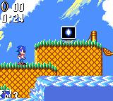 Sonic the Hedgehog Game Gear Power-up item ahead