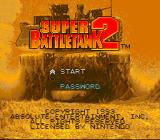 Super Battletank 2 SNES Title screen