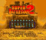 Super Battletank 2 SNES Password screen
