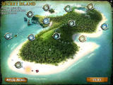 Mystery Solitaire: Secret Island Windows The island map