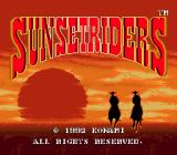Sunset Riders Genesis Title screen