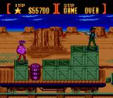 Sunset Riders Genesis Train level. Dramatic situation