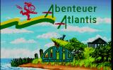 Abenteuer Atlantis DOS The title screen