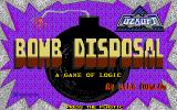 Bomb Disposal Atari ST Title screen