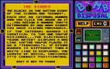 Bomb Disposal Atari ST Info screen