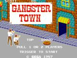 Gangster Town SEGA Master System Title Screen
