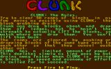 Clunk Atari ST Part of the instructions