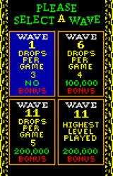 Klax Lynx Starting at higher levels reaps higher rewards -- if you can finish the level.