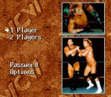 WCW SuperBrawl Wrestling SNES Main menu