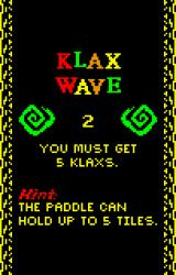 Klax Lynx Gameplay hints are on every level description