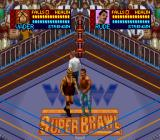 WCW SuperBrawl Wrestling SNES Meeting in the middle of the ring