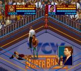 WCW SuperBrawl Wrestling SNES On the ground