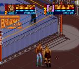 WCW SuperBrawl Wrestling SNES Fighting outside the ring