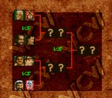 WCW SuperBrawl Wrestling SNES A tag team tournament tree