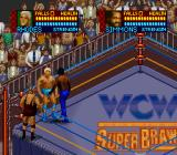 WCW SuperBrawl Wrestling SNES A tag team match
