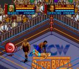WCW SuperBrawl Wrestling SNES The wrestler's partner can help him cheat