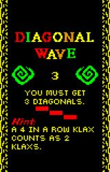 Klax Lynx Diagonal Wave instructions