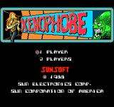 Xenophobe NES Title screen