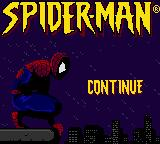 Spider-Man Game Boy Color Title screen