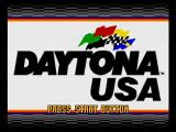 Daytona USA SEGA Saturn Title Screen