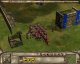Lords of the Realm III Windows Our Army charges when the wall falls down
