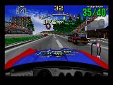 Daytona USA SEGA Saturn The view from inside the car