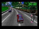 Daytona USA SEGA Saturn The farthest-away view of your car.