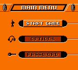 Action Man: Search for Base X Game Boy Color Main menu