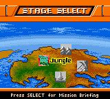 Action Man: Search for Base X Game Boy Color Stage select