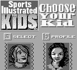 Sports Illustrated for Kids: The Ultimate Triple Dare Game Boy Character selection