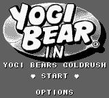 Yogi Bear's Goldrush Game Boy Title screen