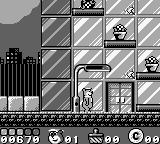 Yogi Bear's Goldrush Game Boy The big city = things falling off buildings.