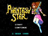 Phantasy Star SEGA Master System Title Screen