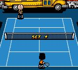 Snoopy Tennis Game Boy Color First set... prepare to meet you _match_ Charlie...