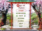 Age of Japan Windows Title screen and main menu