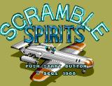 Scramble Spirits SEGA Master System Title Screen