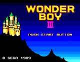 Wonder Boy III: The Dragon's Trap SEGA Master System Title Screen