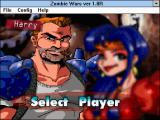 Zombie Wars Windows 3.x Player selection (default window size)