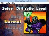 Zombie Wars Windows 3.x Normal difficulty (default window size)