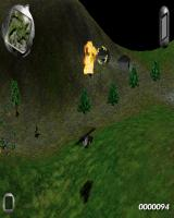 SWIV 3D DOS Two enemy houses under fire