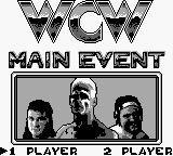 WCW Wrestling: The Main Event Game Boy Title screen